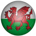Wales Football Flag 58mm Button Badge
